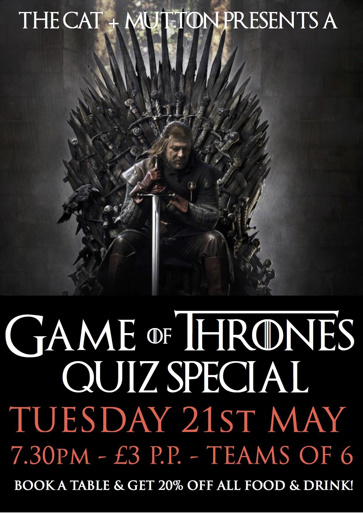Game of Thrones Quiz!